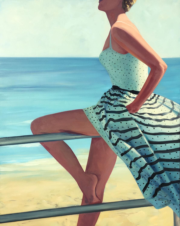 "T.S. Harris, ""Sea Breeze"", 60""x48"", oil on canvas"