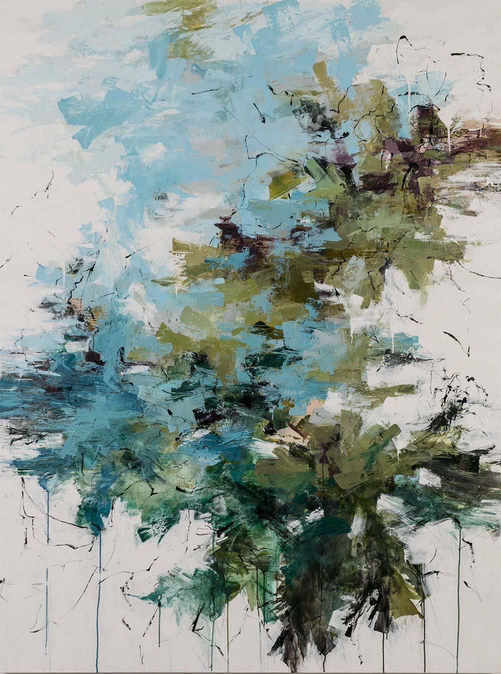"Carlos Ramirez, ""On the Overseas Highway"", 80""x60"", mixed media on canvas"