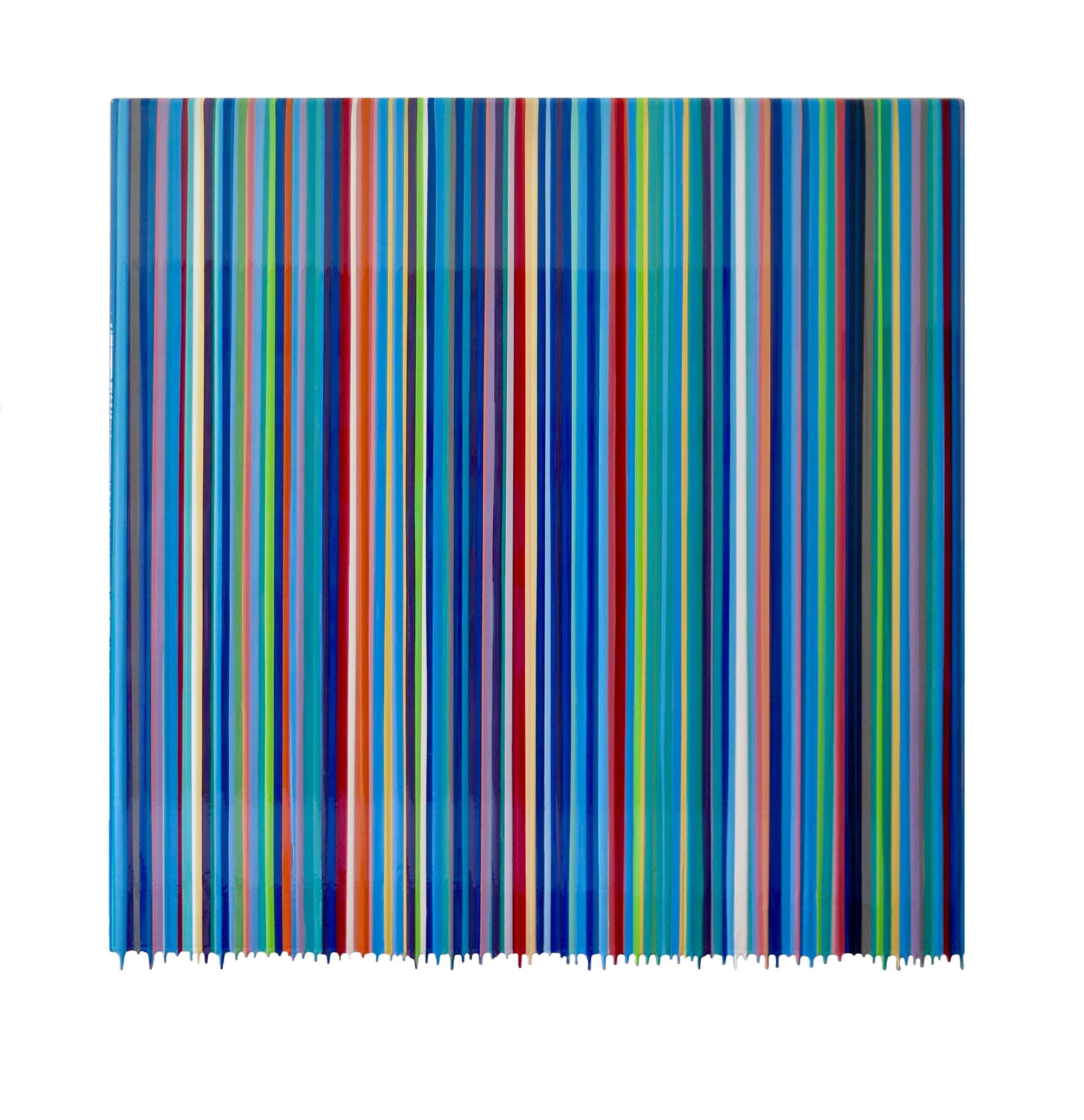 """Gian Garofalo, untitled, 48"""" x 48"""", mixed media on panel"""