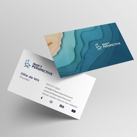 Our new business cards are looking mint! #shiftperspective #furniture #design #businesscard #resin #decor