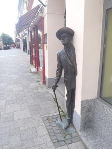 Szombathely – James Joyce statue on the Blum house