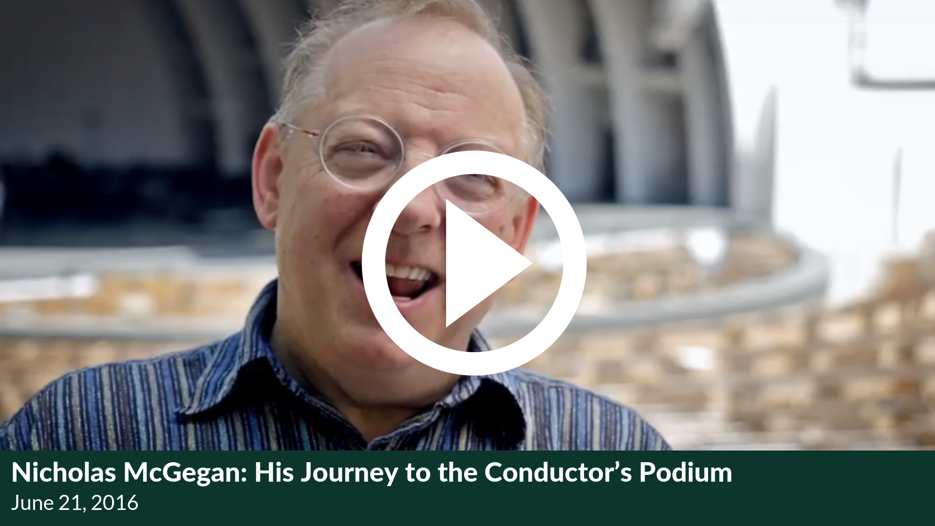 Nicholas McGegan: His Journey to the Conductor's Podium