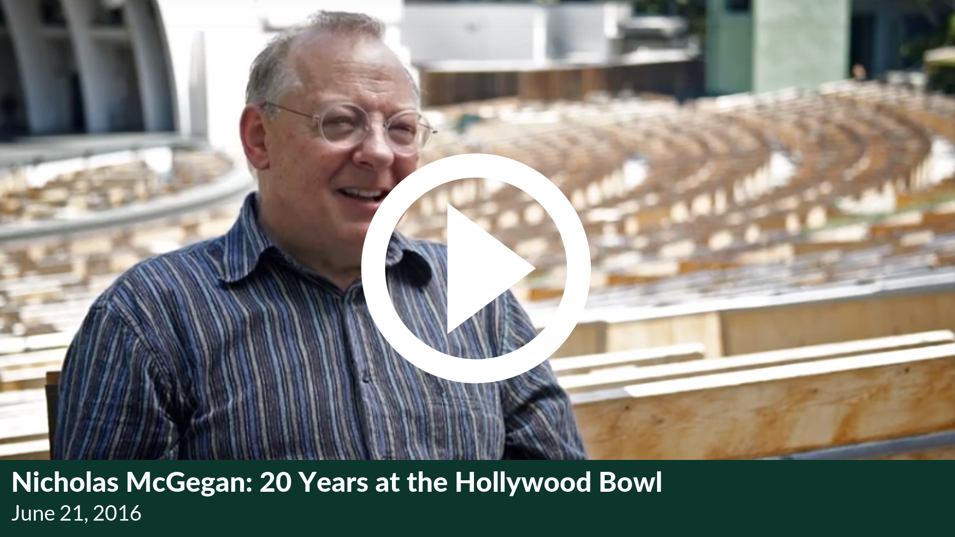 Nicholas McGegan: 20 Years at the Hollywood Bowl