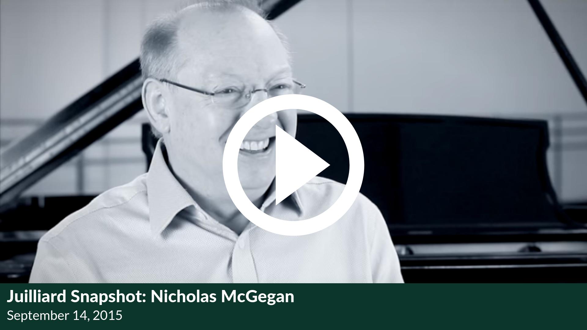 Juilliard Snapshot: Nicholas McGegan