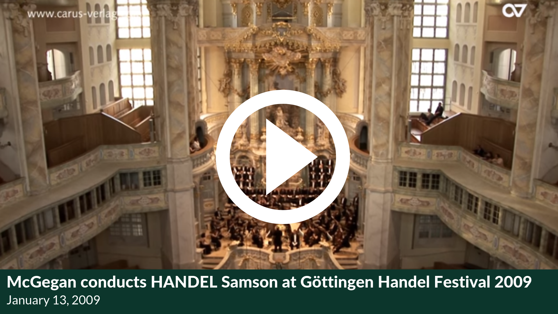 McGegan conducts HANDEL Samson at Göttingen Handel Festival 2009