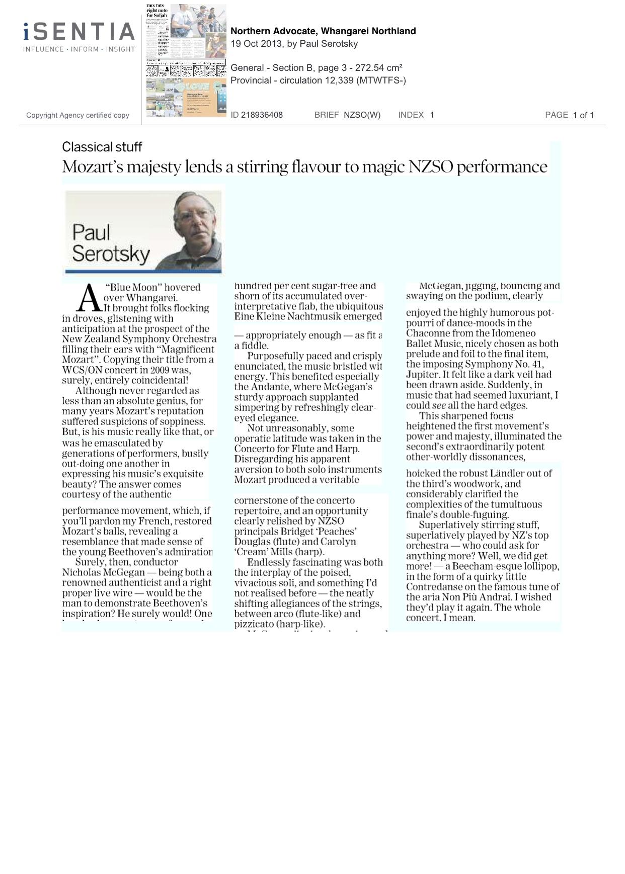 Northern-Advocate.Whangarei.MagMozart.Review.19.10.13