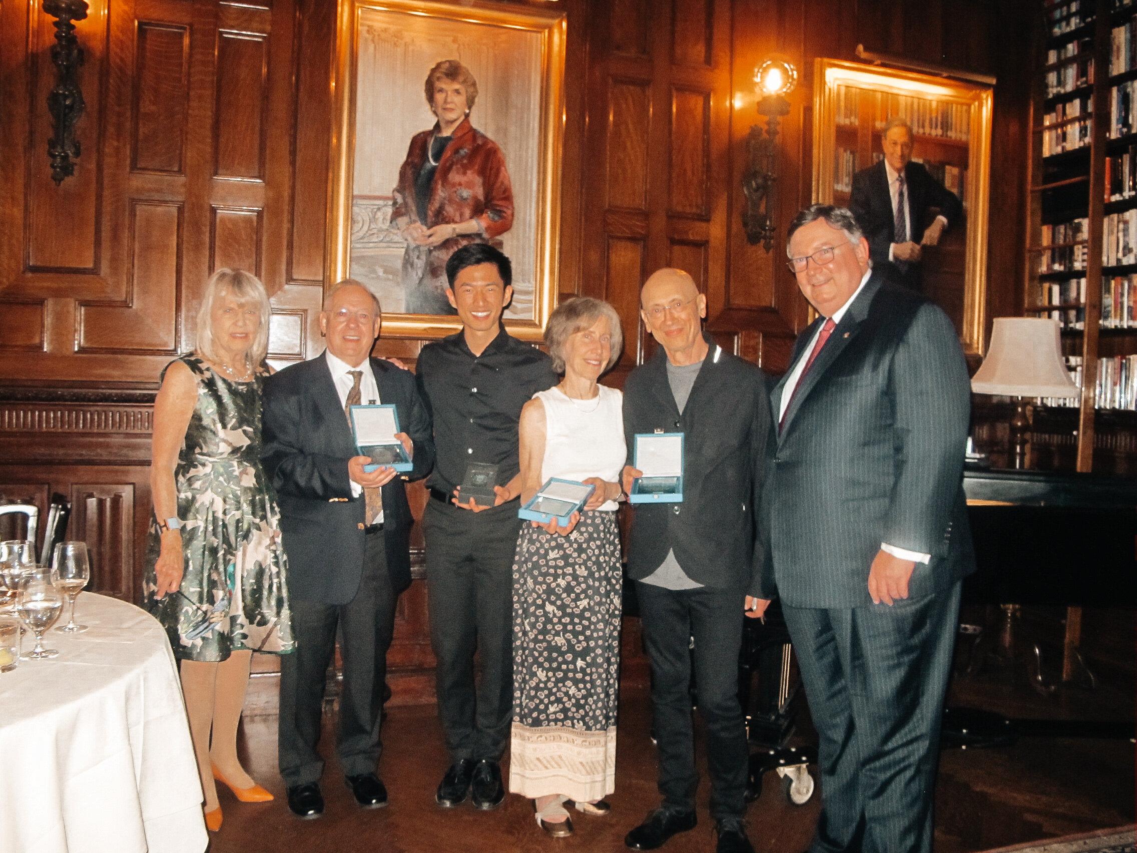 Nic McGegan receives Lotus Club Award of Distinction in New York City.