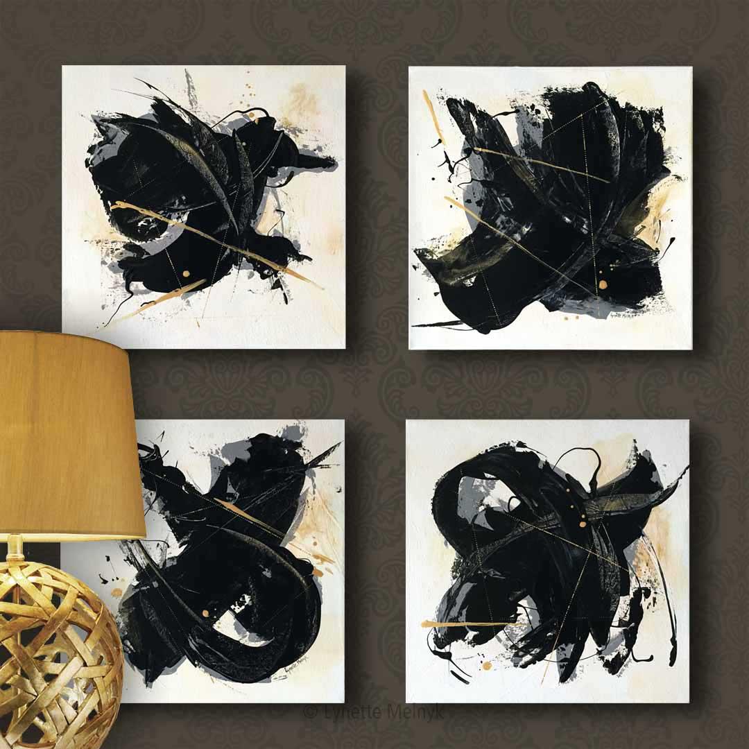 The Atomic Series - 4 paintings