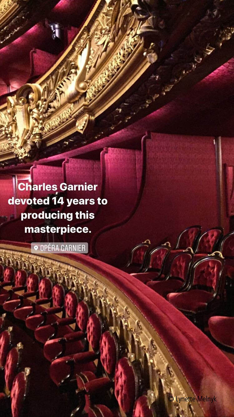 Seating Palais Garnier, Opera in Paris, France