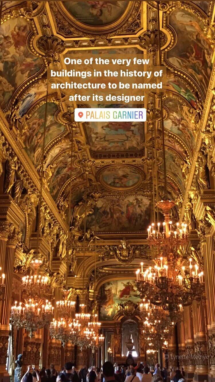 Gold room at Palais Garnier, Opera in Paris, France
