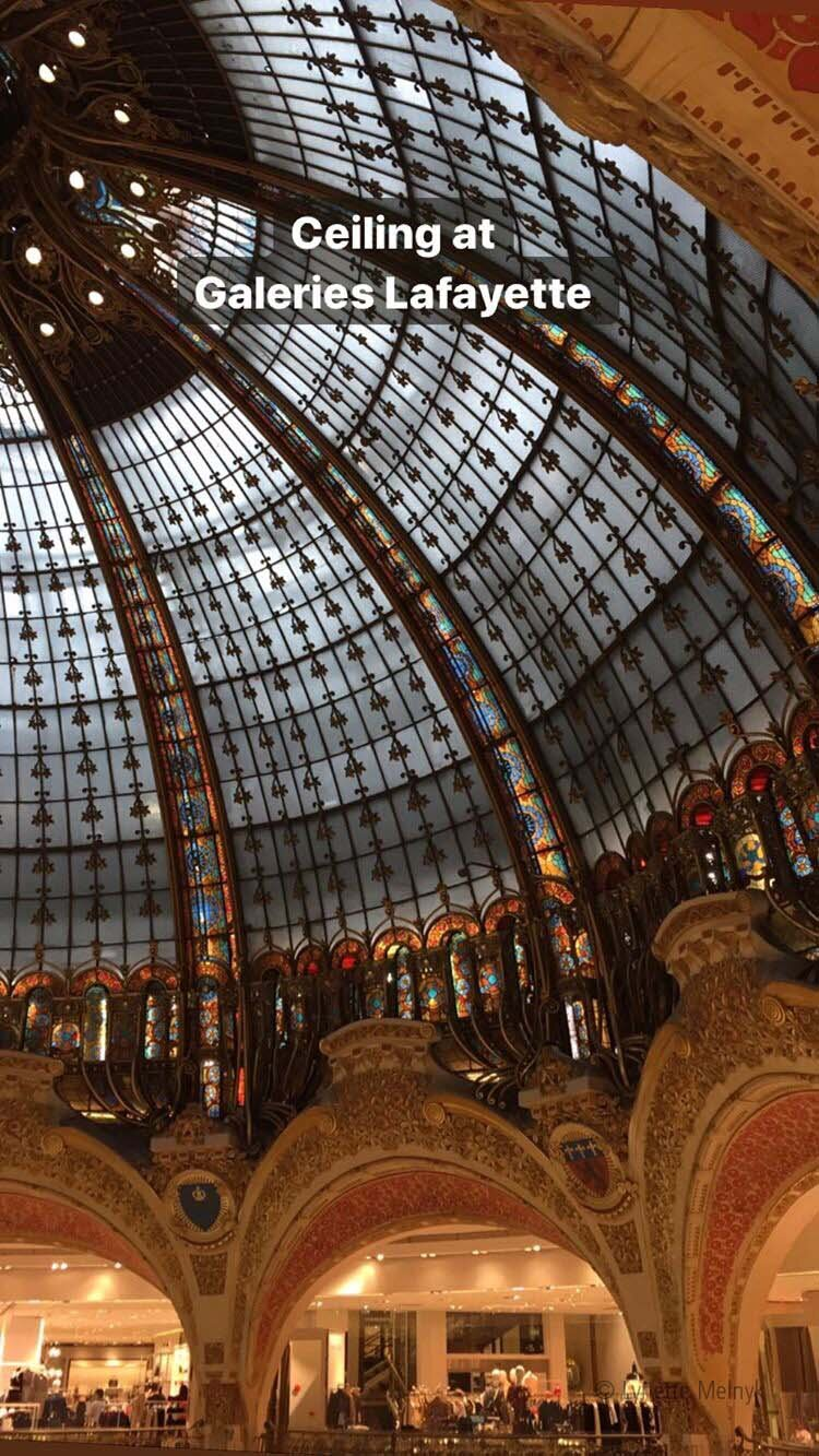 Ceiling at Galeries Lafayette, Paris, France