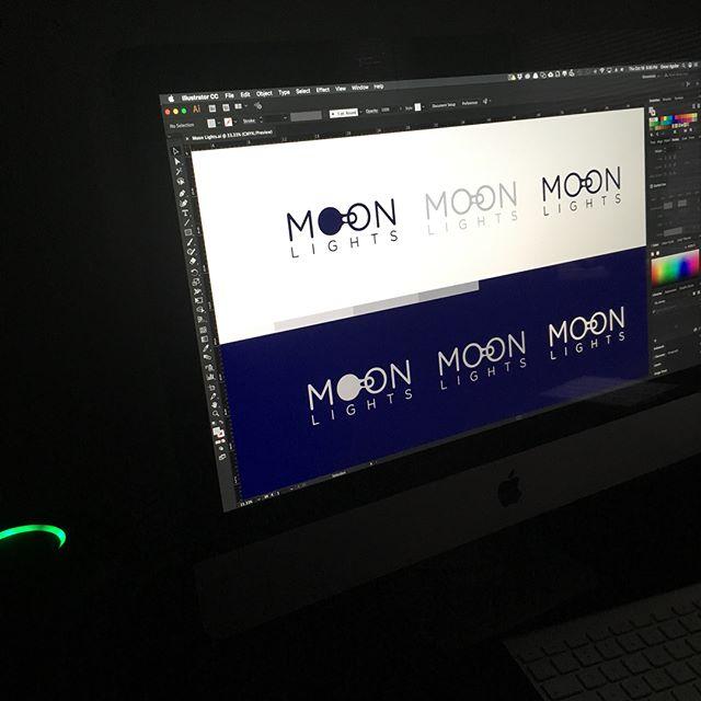 Moon Lights - Logo #thedesigntalks #ninetine_logo #logopassion #supplyanddesign #logoinspirations #agency #digitalagency #branding #graphicdesigner #graphicdesign #illustrator #adobe