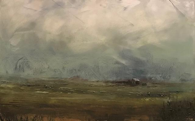 Farm Landscape #18 framed 25x32.25 $1,145 SOLD