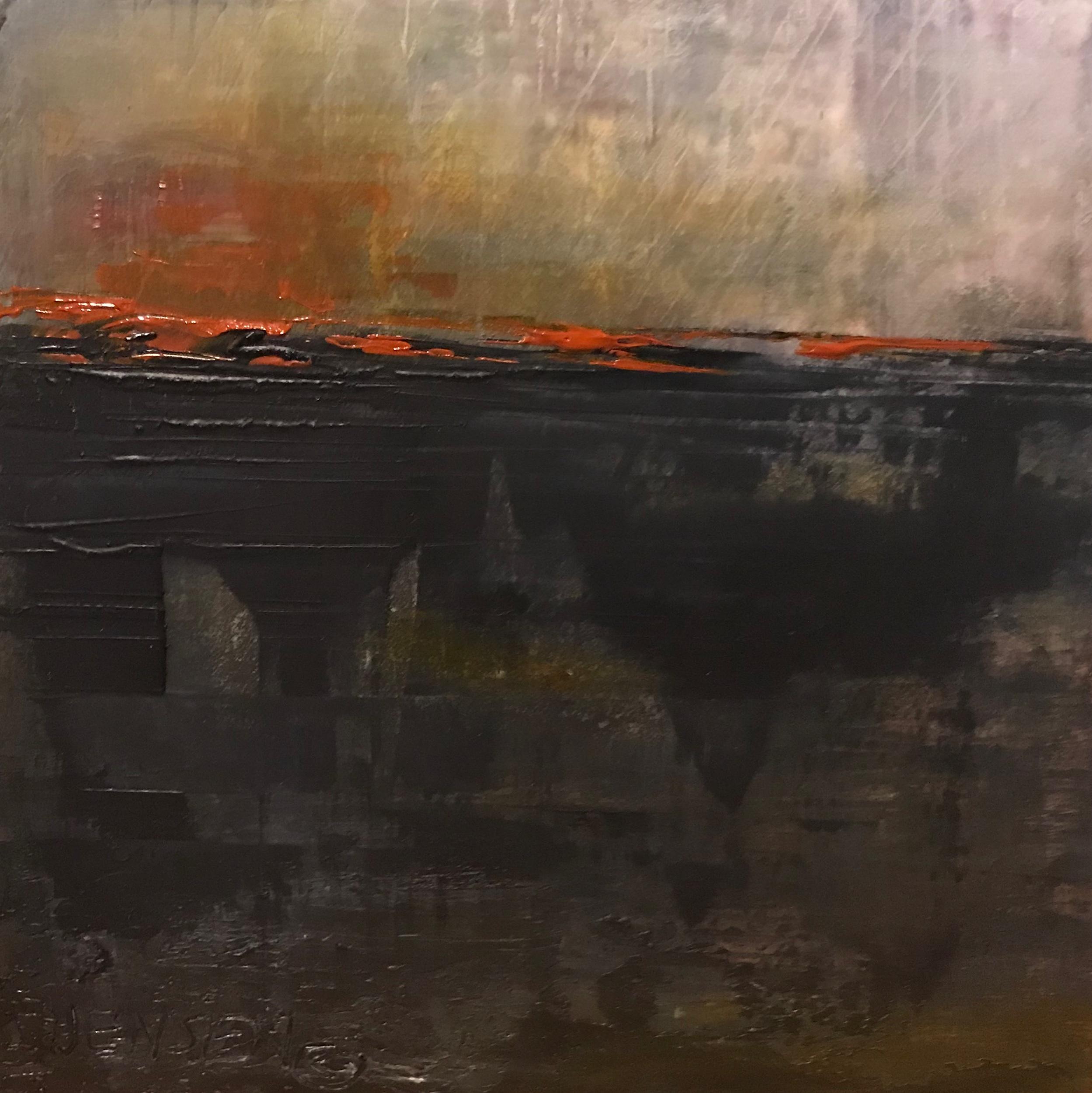 """Landscape#30 unframed 8""""x8"""" cradled board 1.5"""" $300"""
