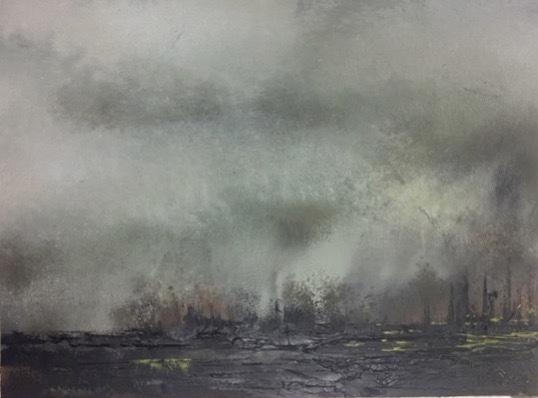 """Landscape #29 framed 17.5"""" x 15.25"""" $650"""