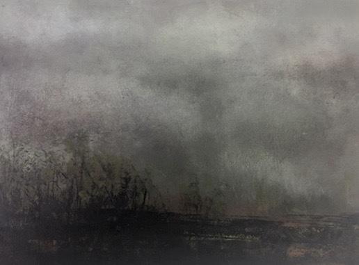 """Landscape#22 framed 17.5"""" x 15.25"""" $650"""