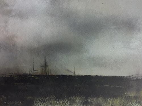 """Landscape #24 framed 17.5"""" x 15.25"""" $650"""