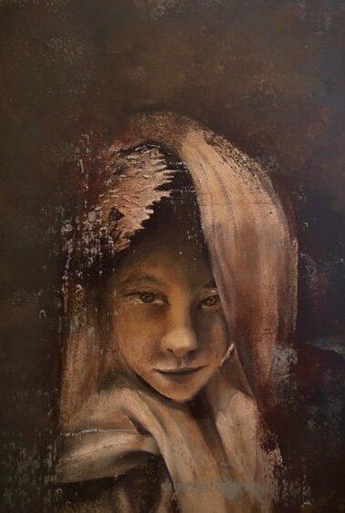 Portrait #76 unframed 15.5x22 $700.00