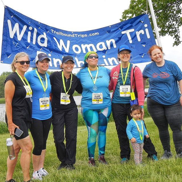 Cycling. 🚲 Running. 🏃‍♀️ Kayaking. 🛶 ROW women do it all! High fives to our team members who, one week ago, completed the @trailboundtrips Wild Woman Tri at #bussewoods! You ladies, and your commitment to being a team for all seasons, are true #squadgoals. 🙌🏻💪🏻😊
