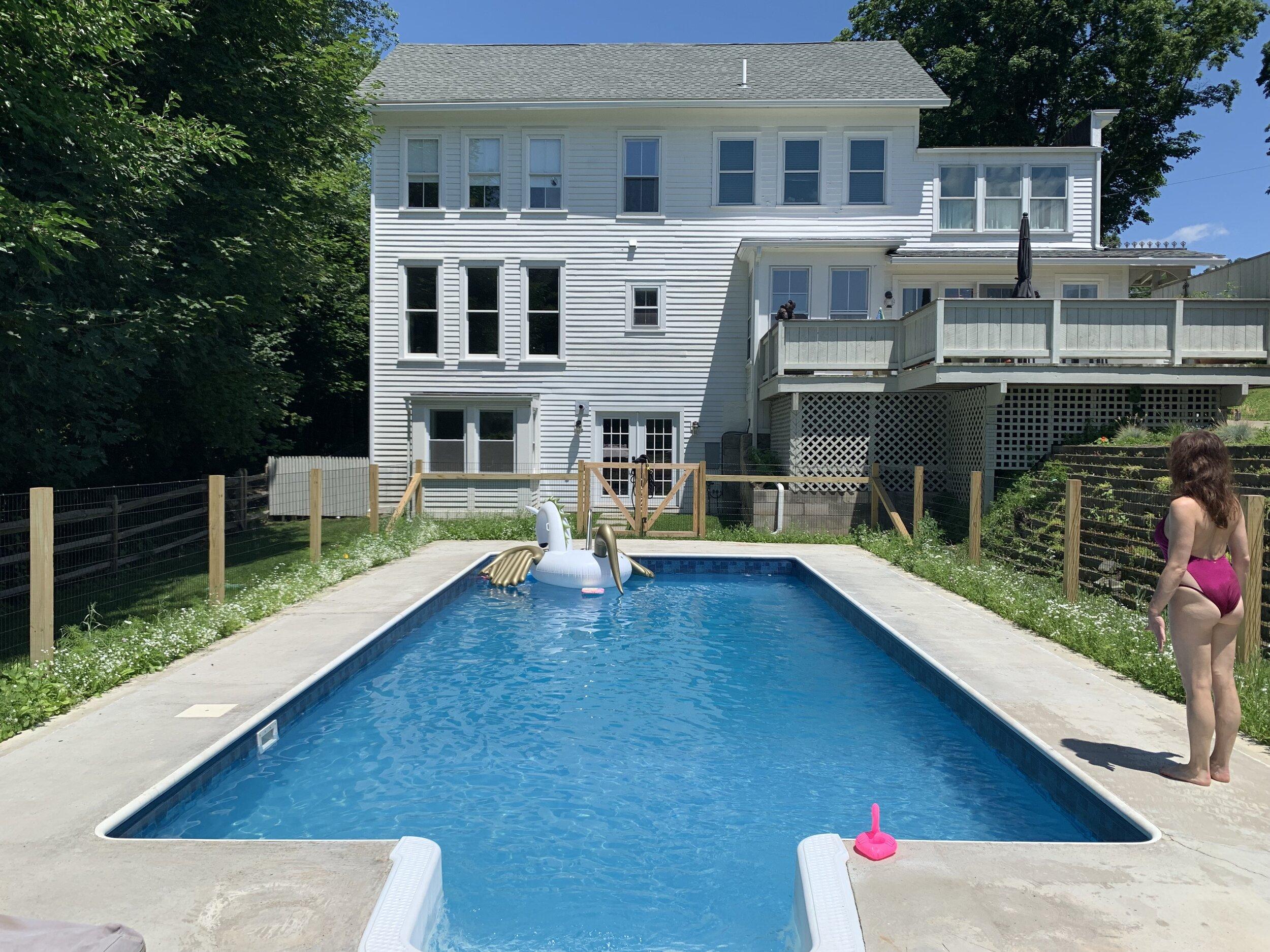 The pool at Quinn & Simon's home.