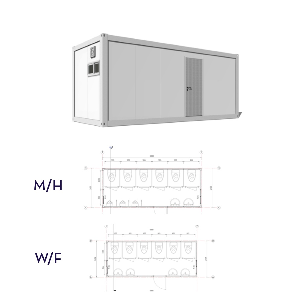 BATHROOM CONTAINER    RENTAL PRICE: 300/DAY