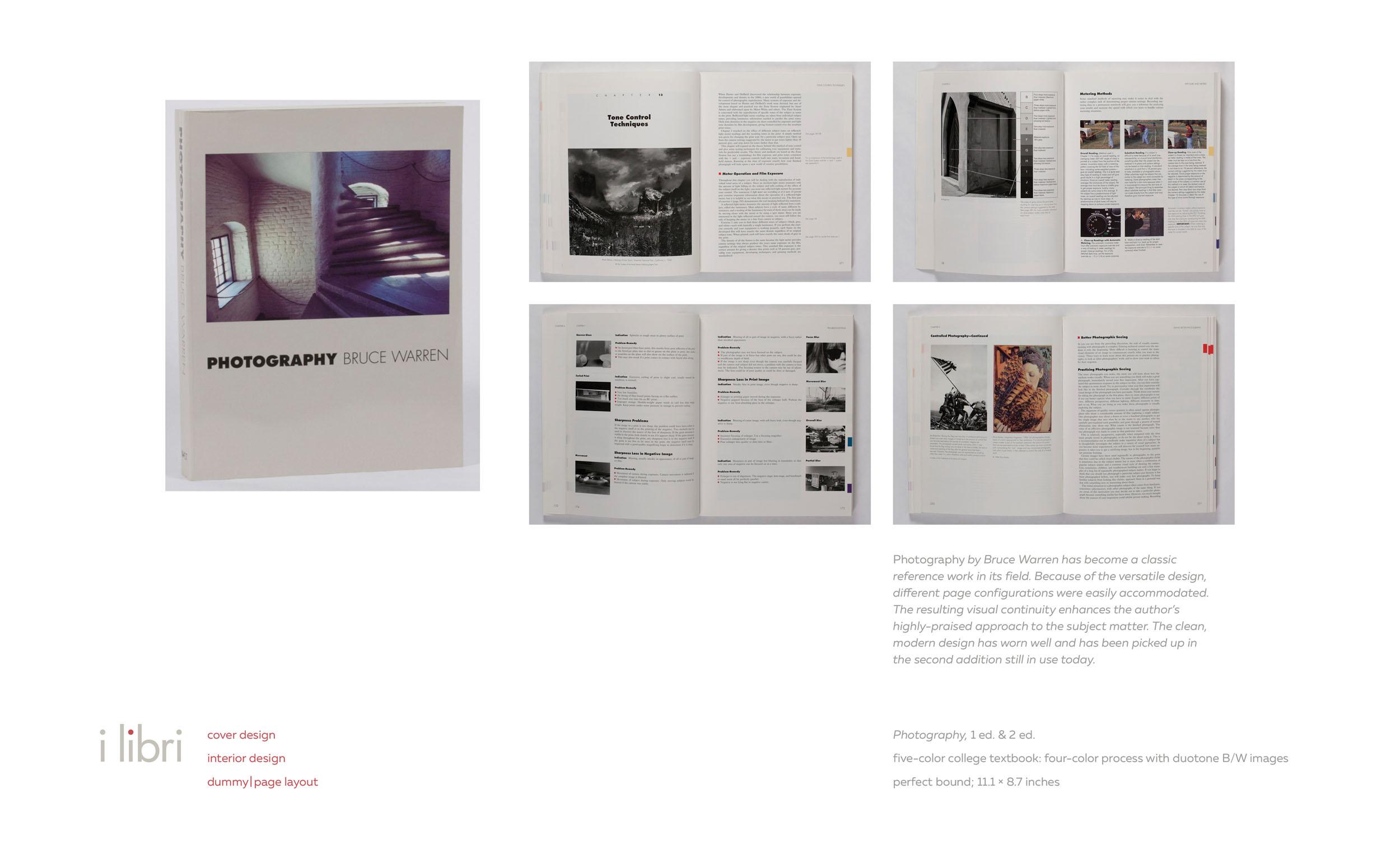 Photography 1E & 2E  by Bruce Warren | cover design (1E), interior book design (1E & 2E), book dummy (1E)