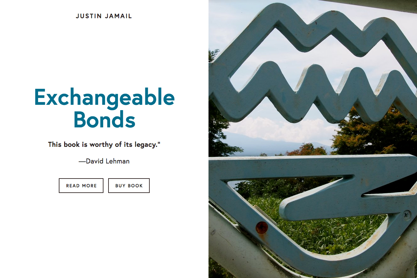 Website for Exchangeable Bonds by Justin Jamail