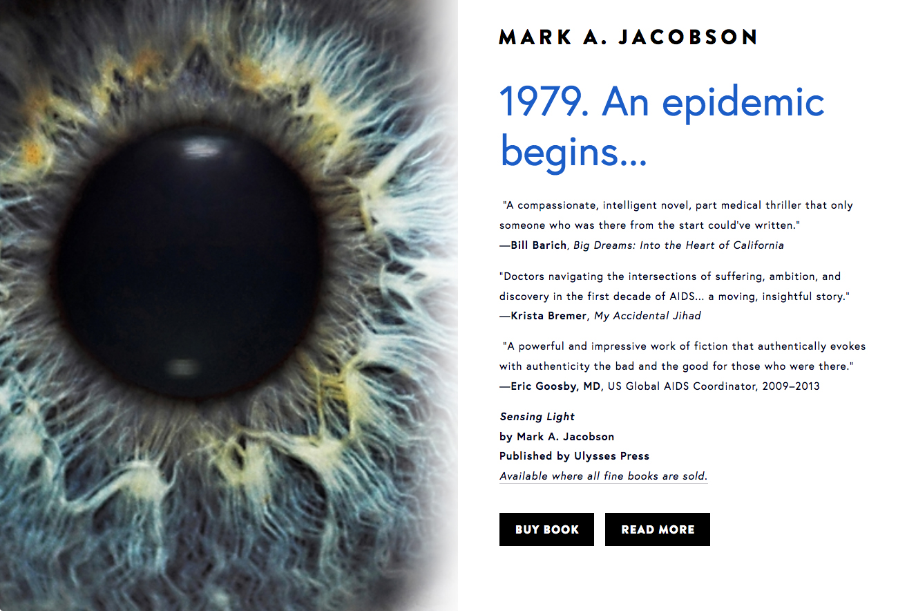Website for Sensing Light by Mark A. Jacobson