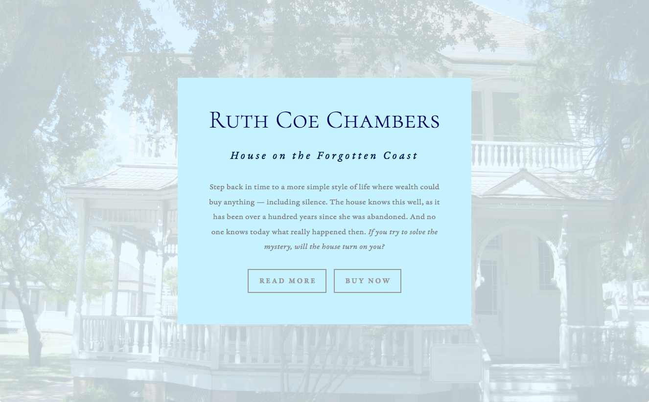 Website for House on the Forgotten Coast by Ruth Coe Chambers