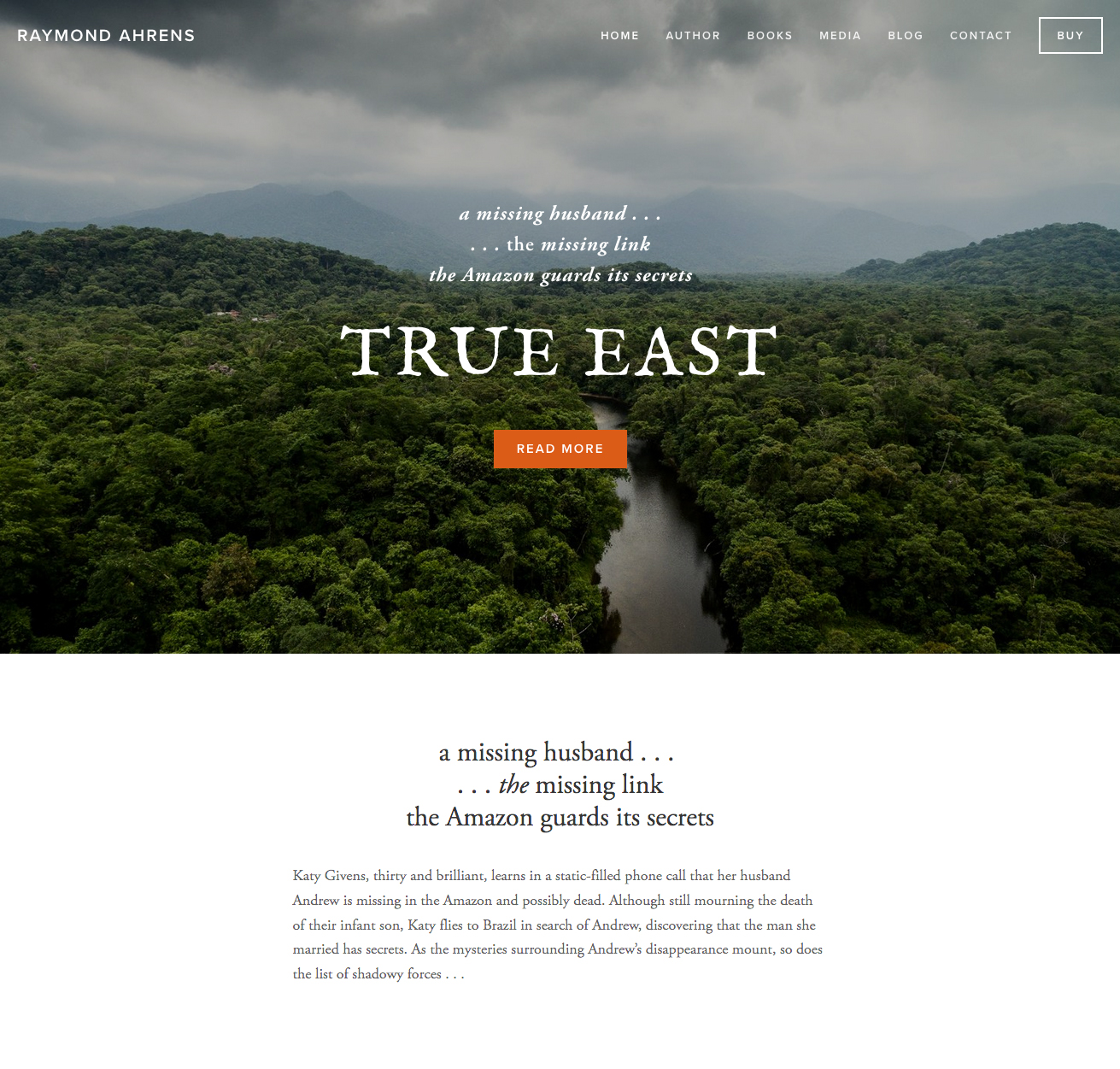 Website for Raymond Ahrens, author of True East and Drive