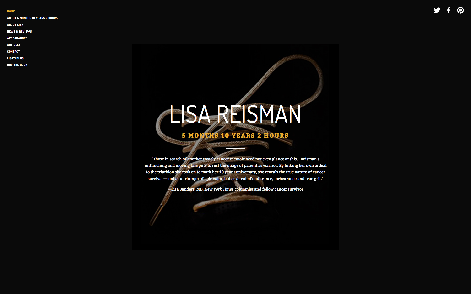Website for Lisa Reisman, journalist and author of 5 Months 10 Years 2 Hours