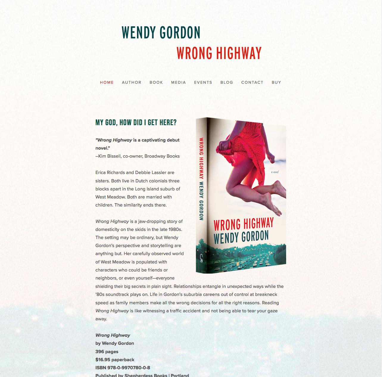 Website for Wendy Gordon's Wrong Highway