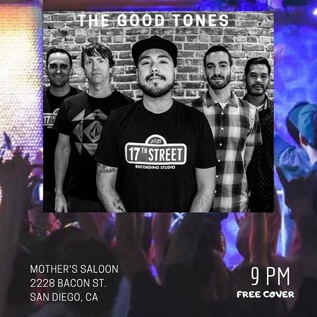 @thegoodtonesmusic will be here tonight at 9 come enjoy the show! #livemusic #oceanbeach #motherssaloon #fridaynight
