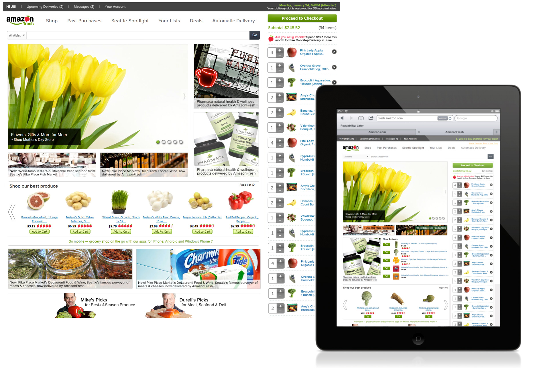 Amazon Fresh Redesign - AmazonFresh.com standalone site redesign.Role: Sole UX and Visual Designer Launch: Summer 2012