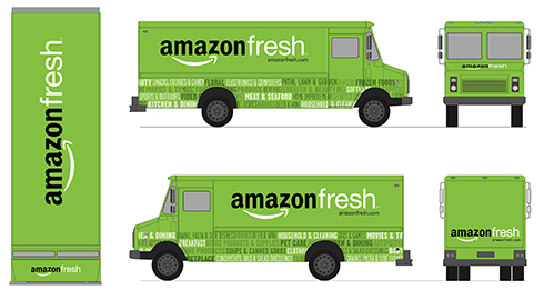 AmazonFresh Rebranding & Launch - AmazonFresh public launch. I led the rebranding, including art direction of marketing and photography, creating the new logo, copywriting, and overseeing design of delivery trucks and tote bags.Role: Art Director, Logo Designer, CopywriterLaunch: June 2013