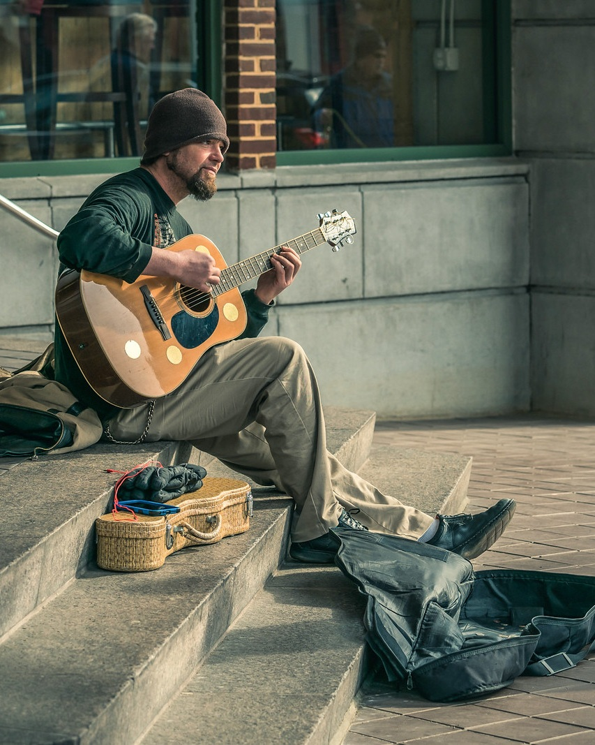 Busker in Alexandria, VA.  | Sony a7RII + 70-200 f/2.8 GM | Street photography can be one of the hardest things for an introvert to shoot.
