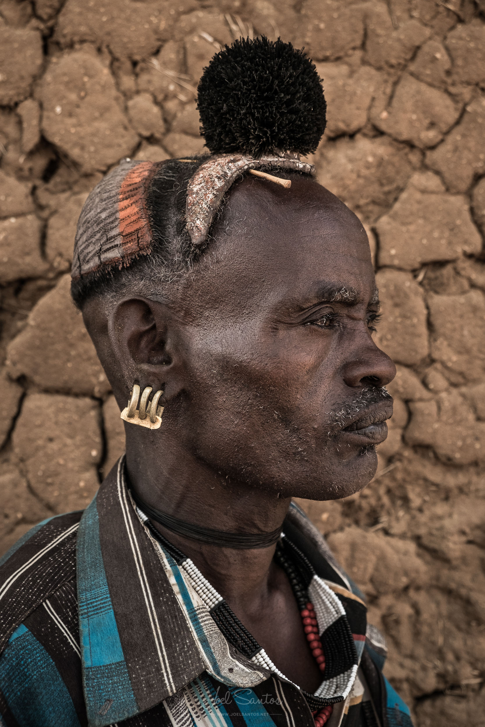 Hamer Tribe Man with Feather on the Head, Omo Valley, Ethiopia