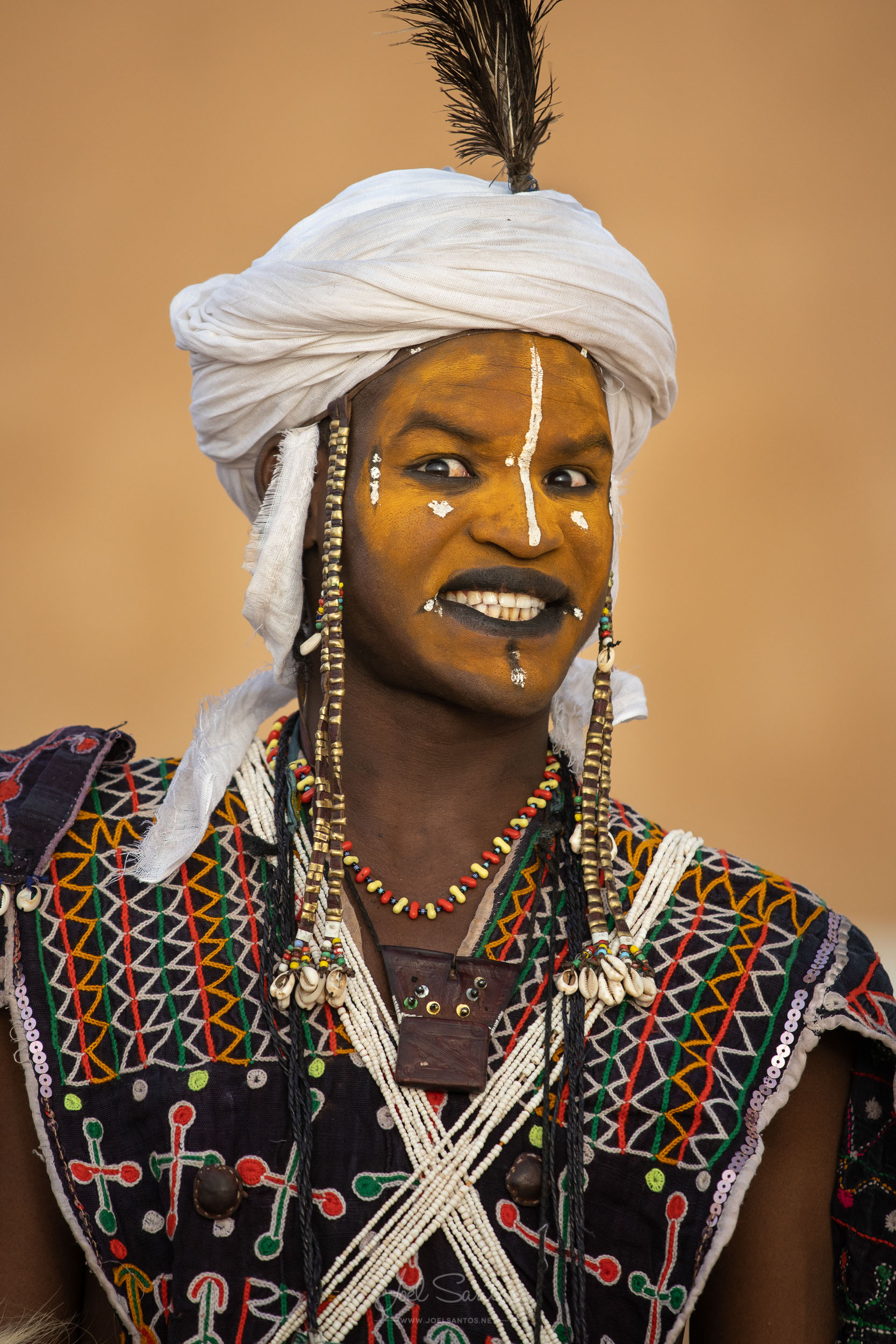 Wodaabe tribe man, Gerewol, Niger