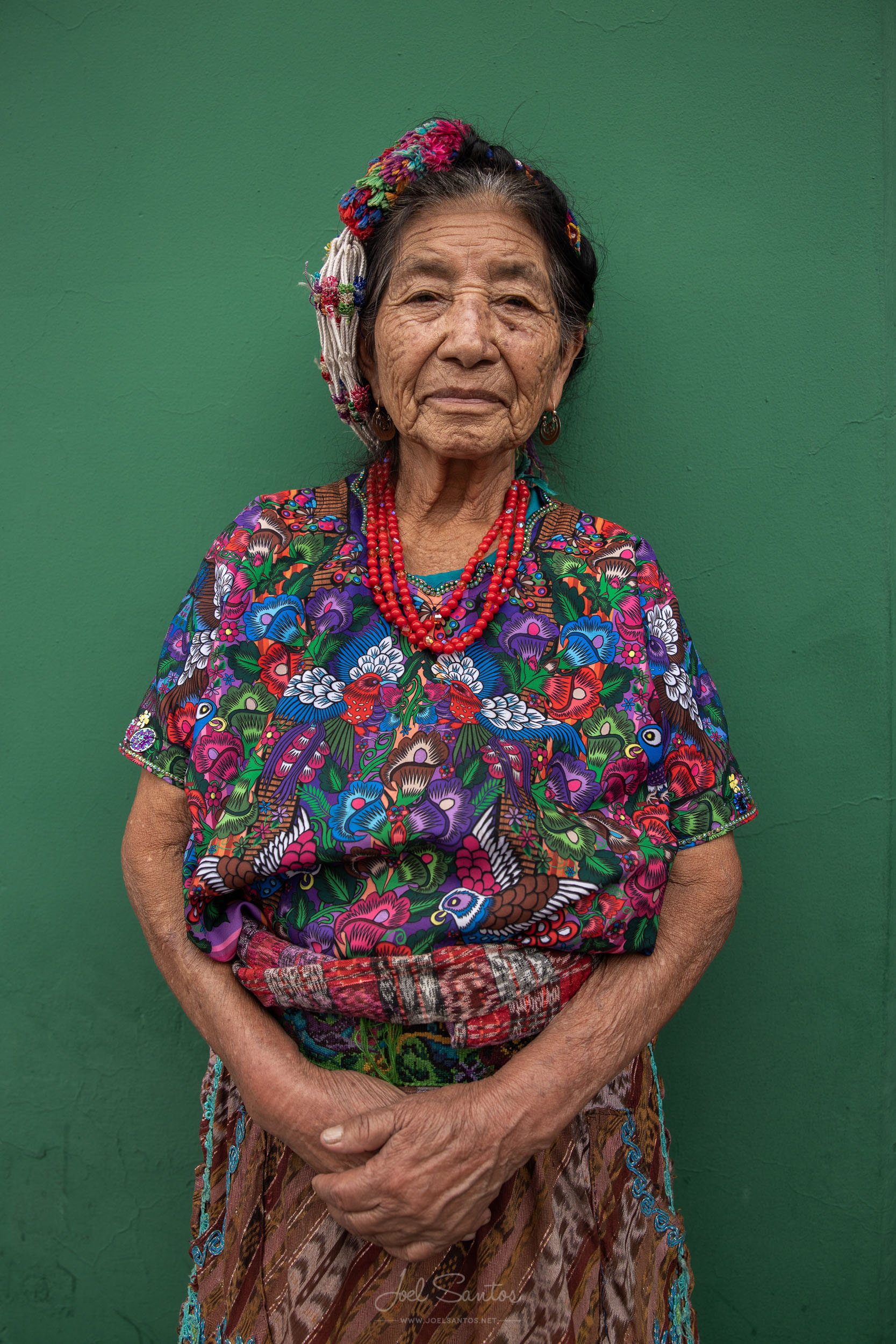Old Woman with traditional huipil, Guatemala