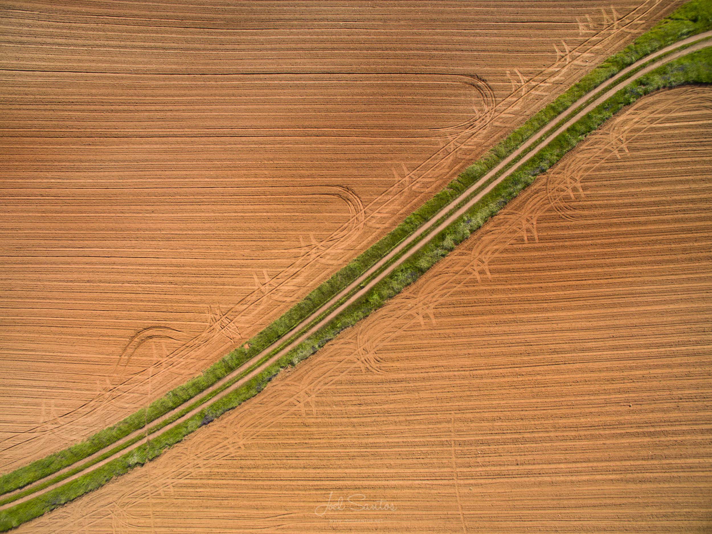 Alentejo farm fields, Portugal