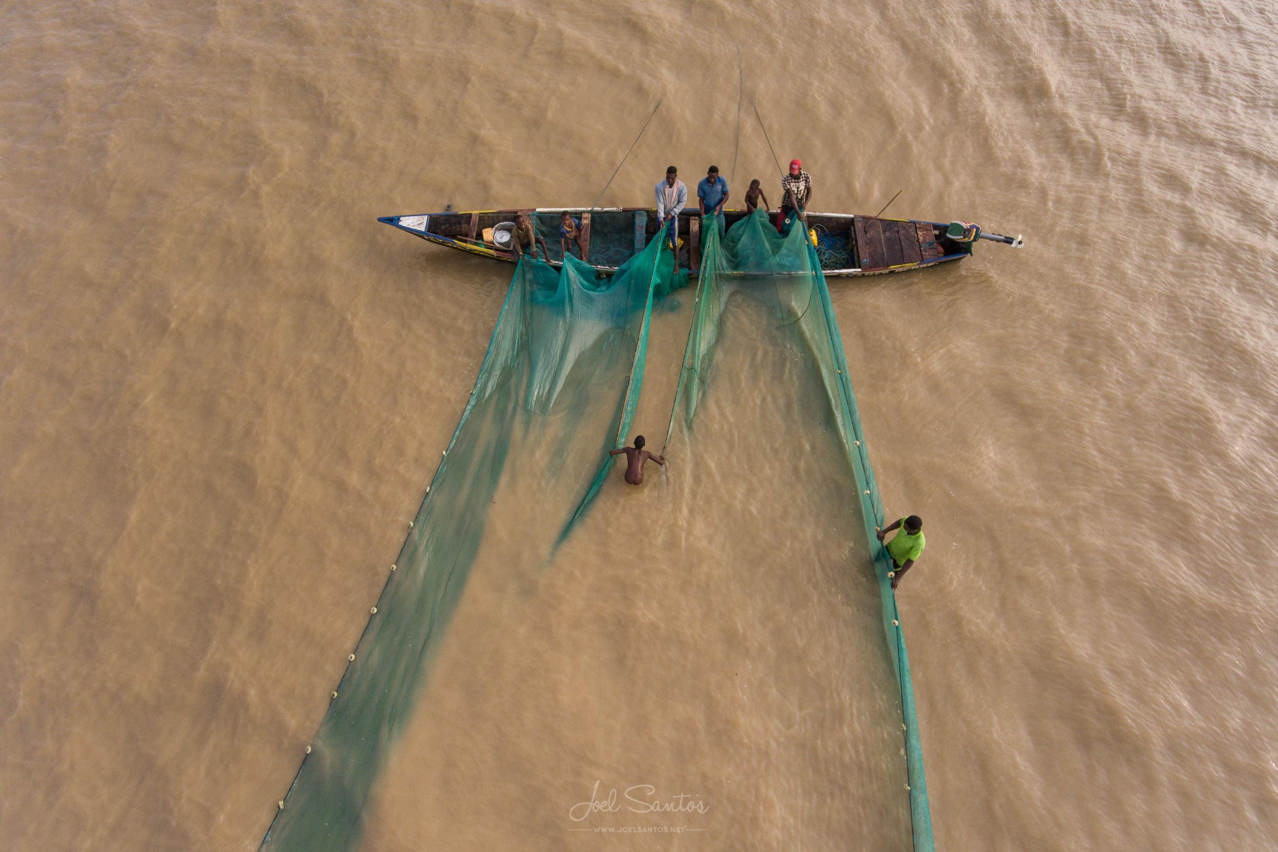 Lake Volta fishermen, Ghana