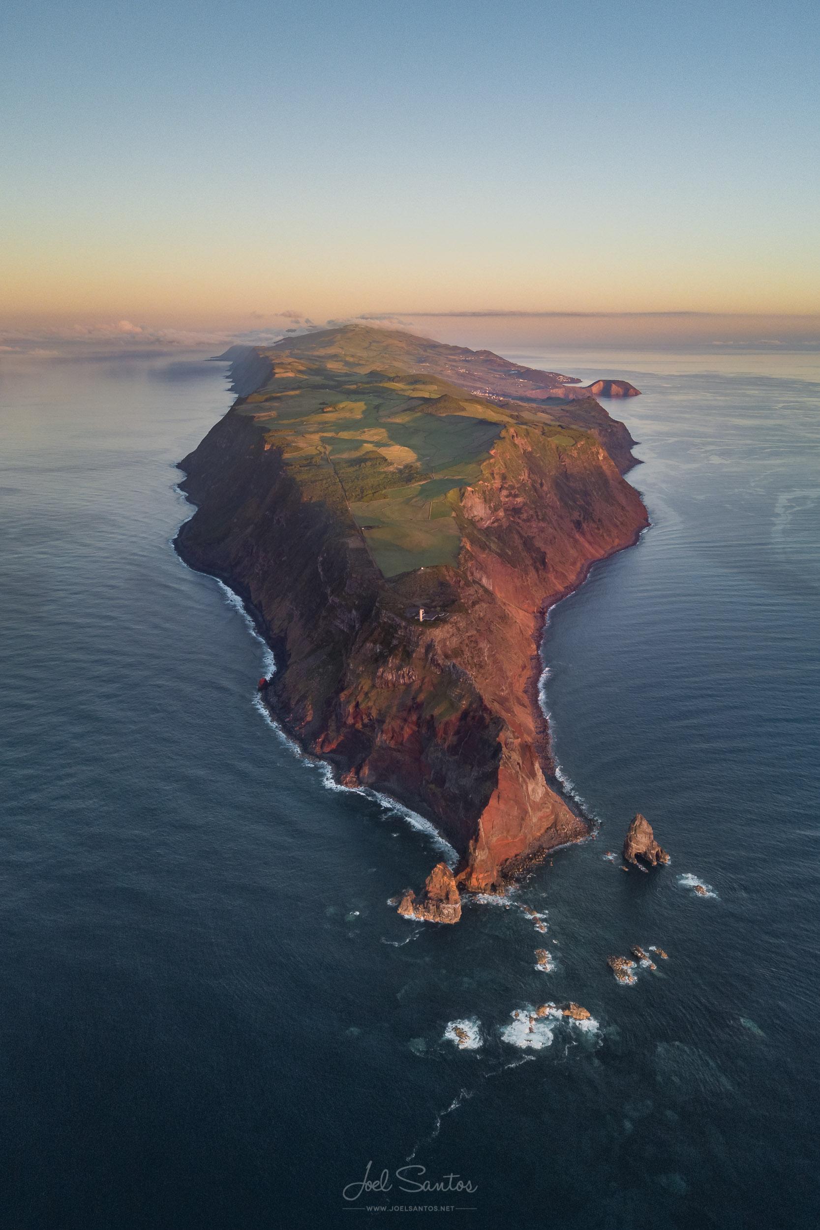 São Jorge Island aerial view, Azores, Portugal