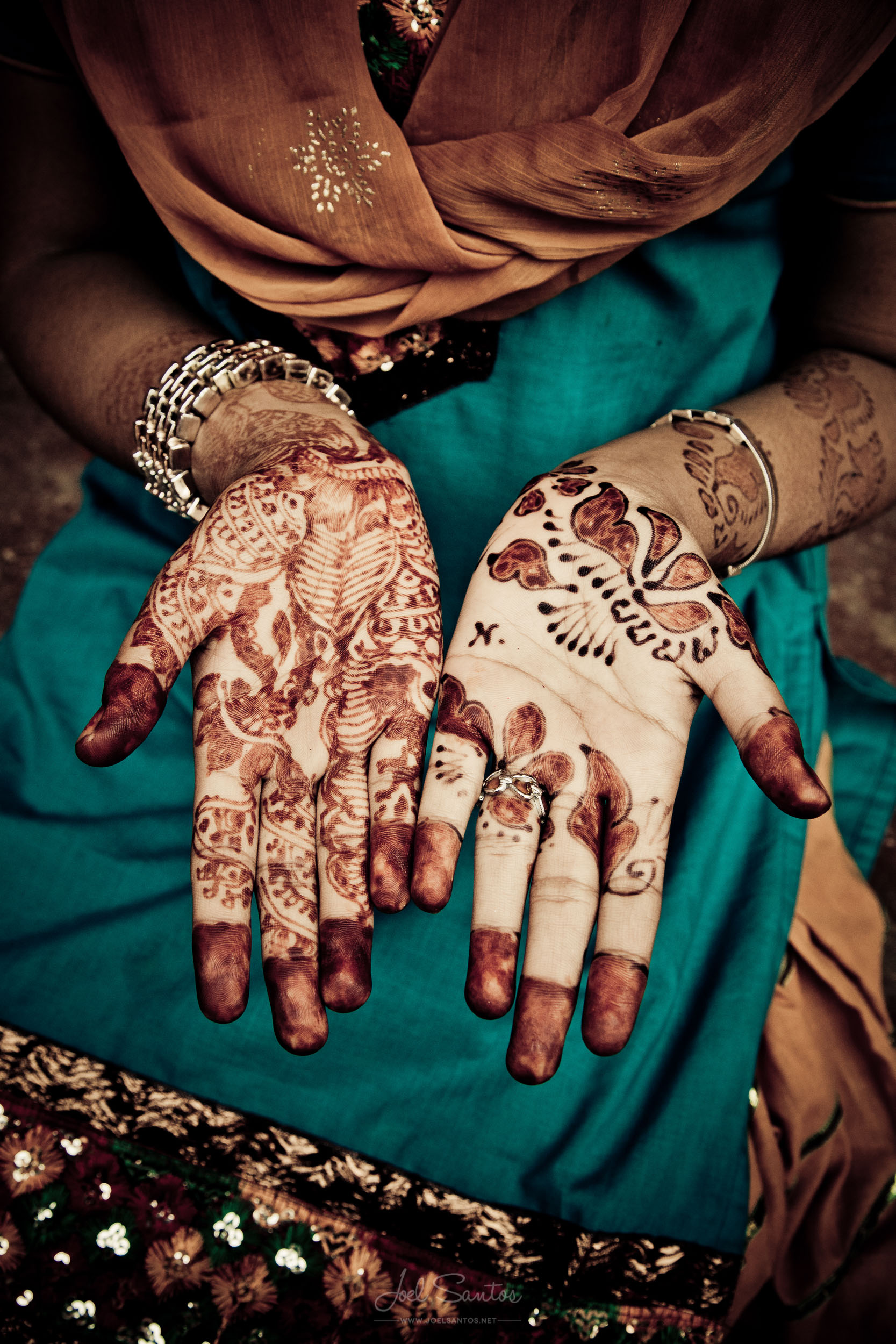 Henna Painted Hands, Jaipur, India