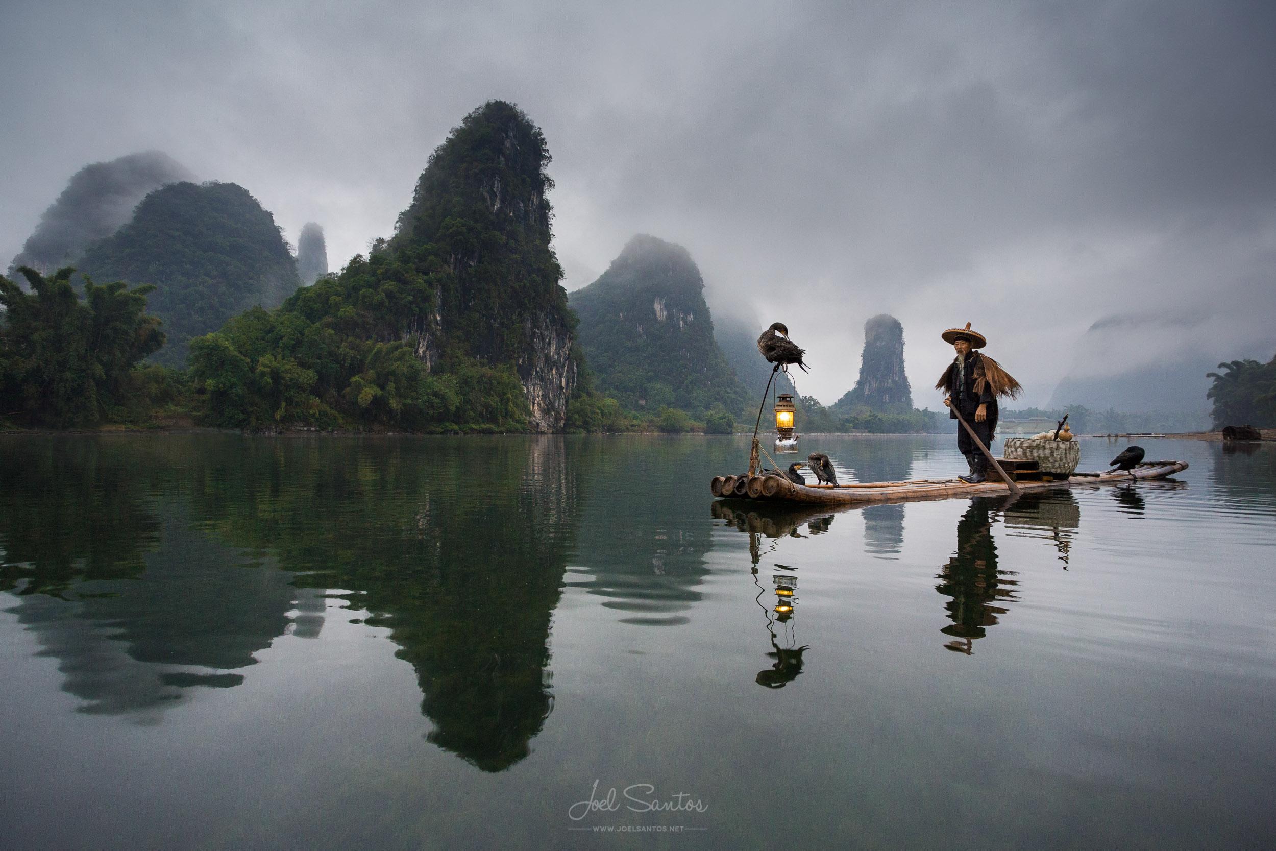 Cormorant Fisherman, Li River, Guangxi, China