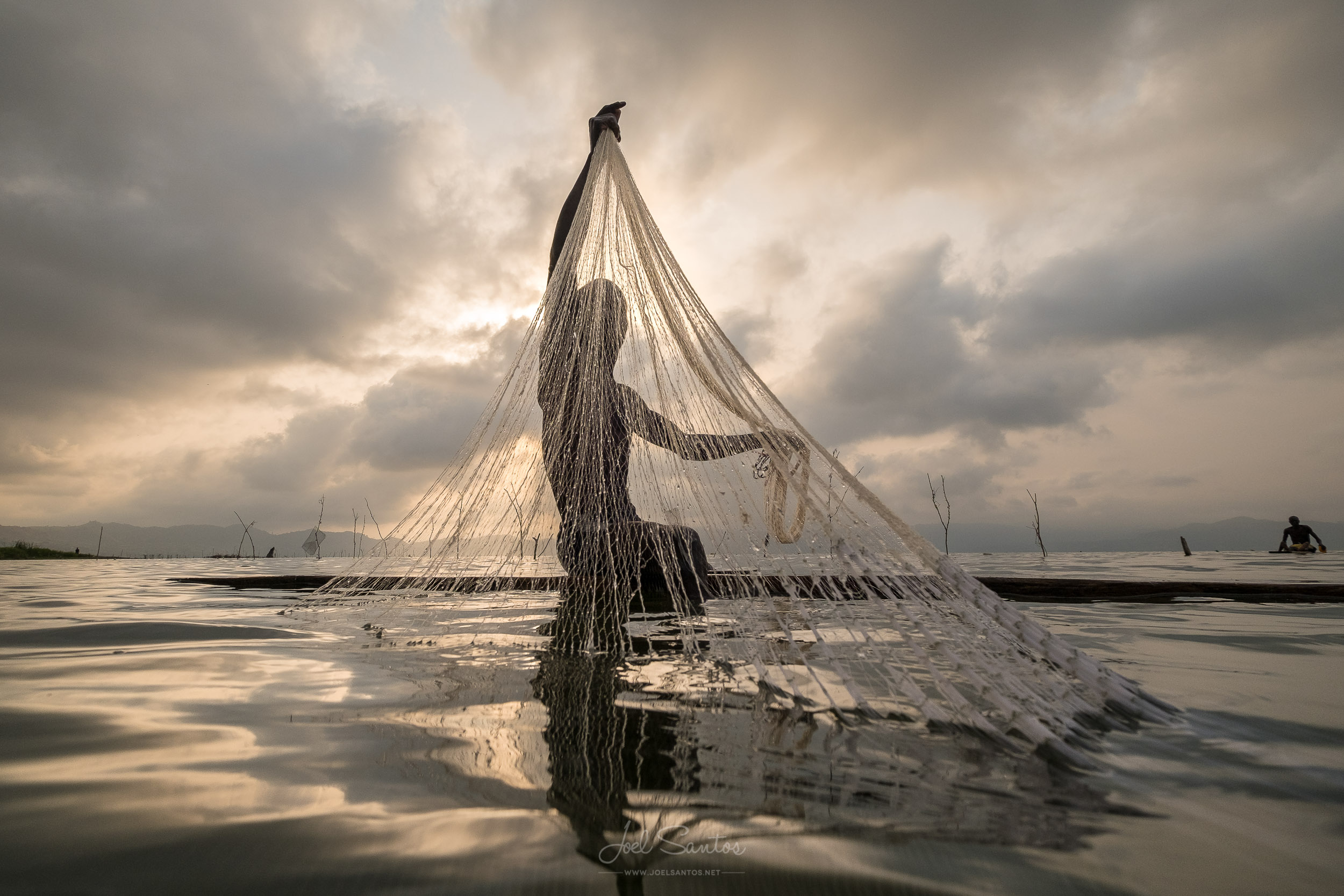 Lake Bosumtwi fisherman, Ashanti, Ghana