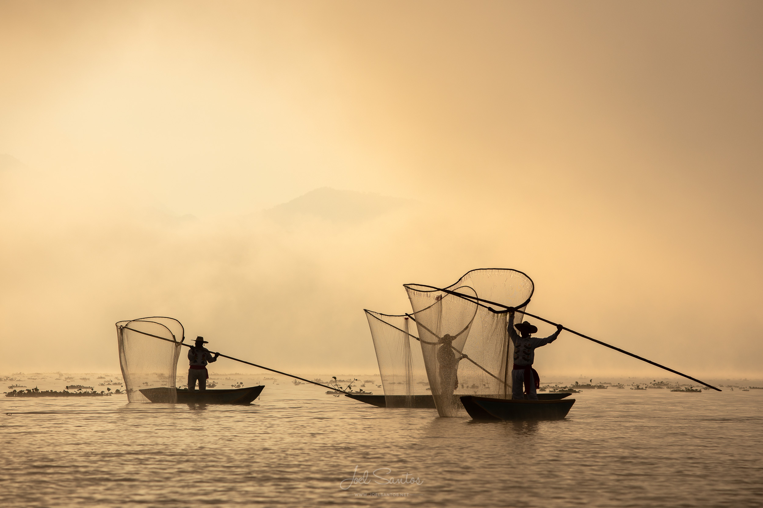 Butterfly net fisherman, Lake Patzcuaro, Michoacan, Mexico