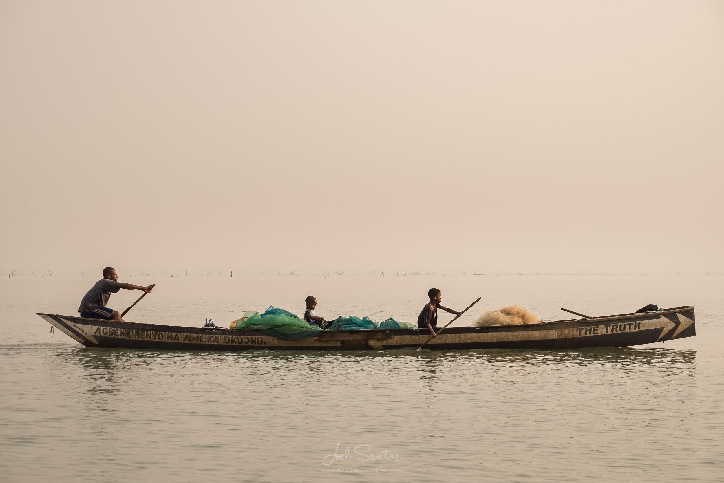 Lake Volta fisherman, Ghana