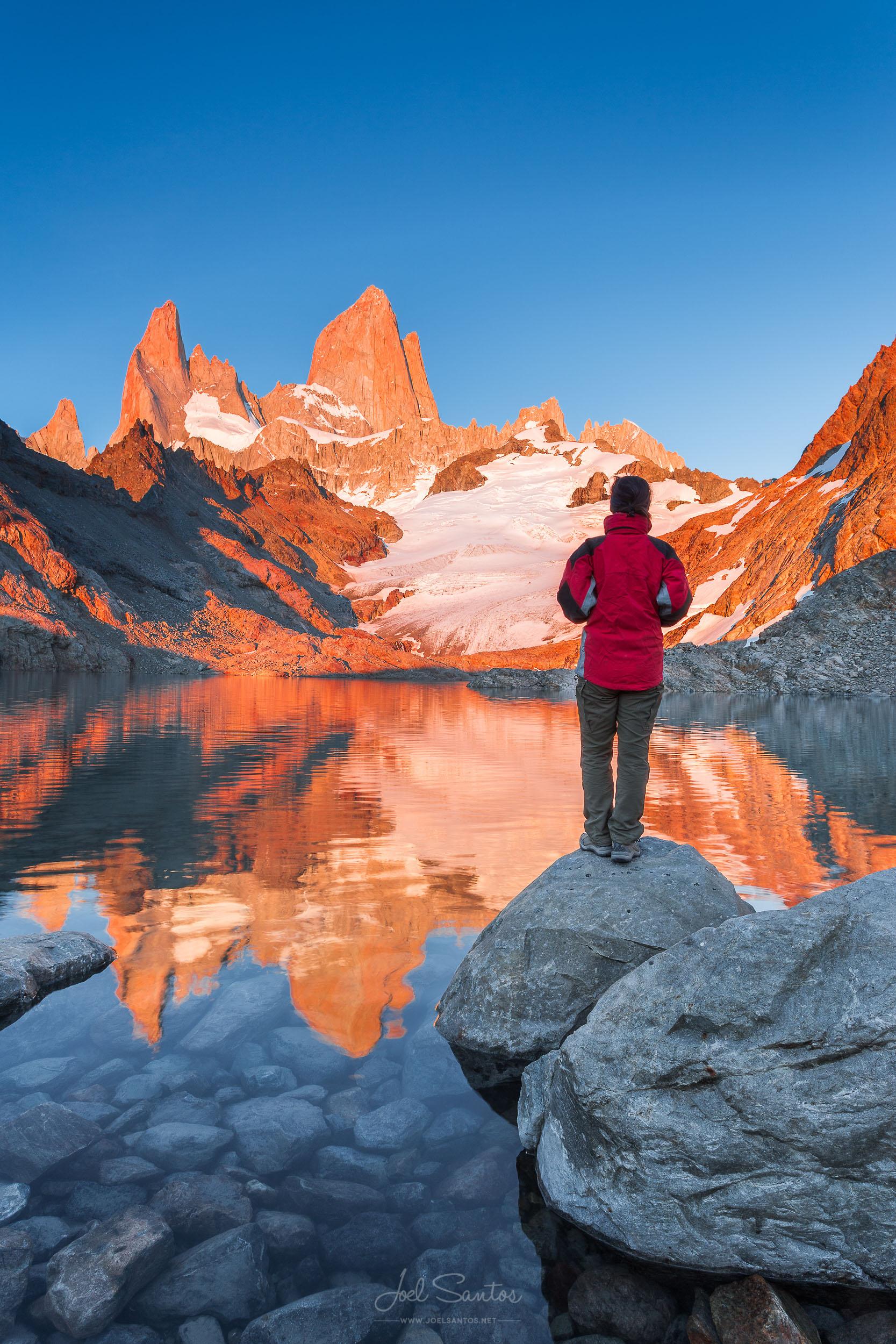 Fitz Roy,  Laguna de Los Tres, Southern Patagonian Ice Field, Pa