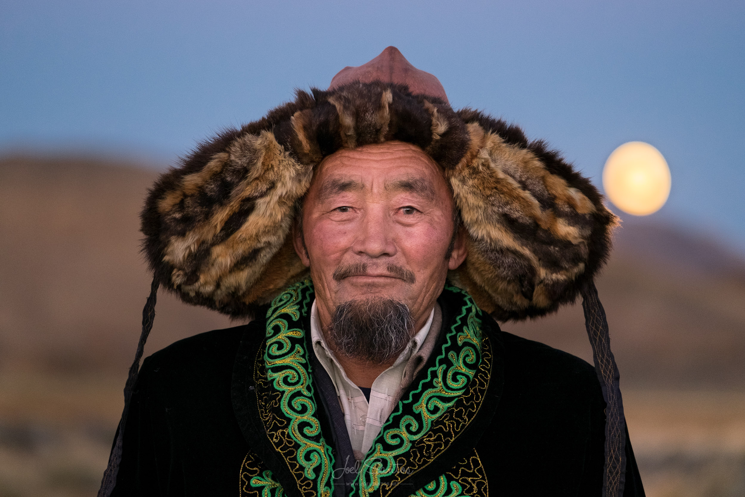 Essen's father, Eagle Hunter, Altai, Western Mongolia