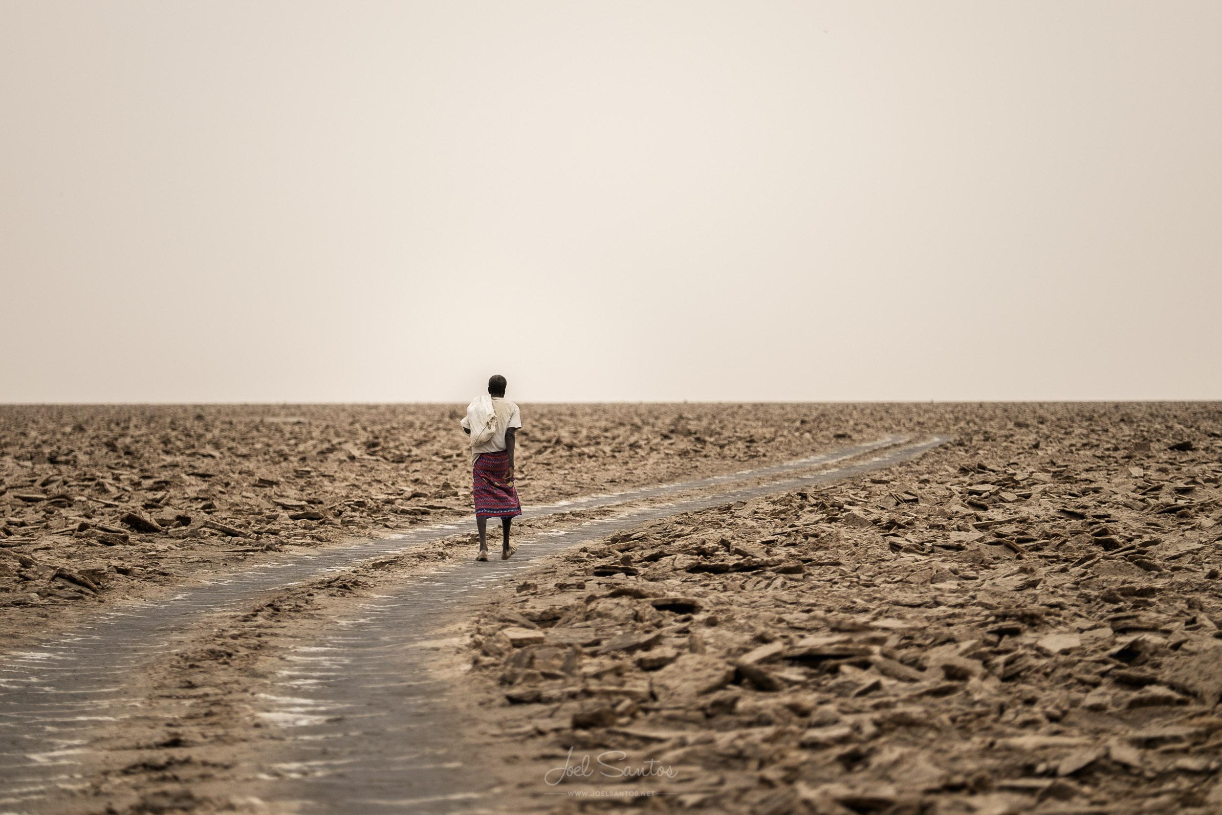 Salt Miner, Danakil Depression, Afar, Ethiopia